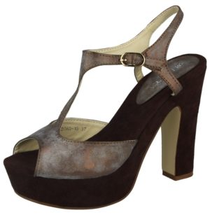milaya womens faux leather metallic shimmer stiletto high heel