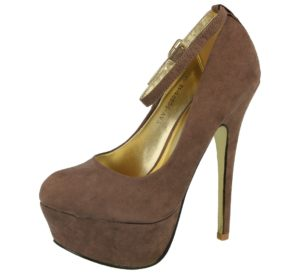 milaya womens faux suede ankle strap stiletto high heel