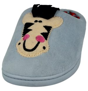 yinka kids unisex soft animal mule slipper blue