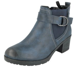 Antonio Dolfi Women's Navy Faux Leather Ankle Boots