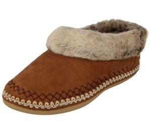 cara mia womens moccasin faux fur slipper