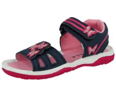Kella Girls Faux Leather 3D Butterfly Gladiator Sandals - Navy