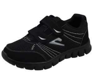 Galop Kids & Adult's Breathable Canvas Touch & Close Trainers - Black