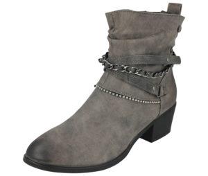 Embrace Women's Faux Leather Triple Strap Ankle Boots