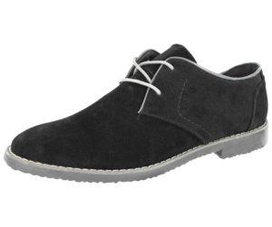 Cushion Walk Men's Faux Suede Lace Up Brogues - Black