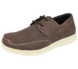 Yinka Shoes Men's Faux Leather Lace Up Boat Shoes