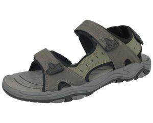 Galop Men's Khaki Faux Leather Double Touch & Close Sandals
