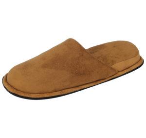 Yinka Shoes Women's Faux Suede Slip On Mule Slippers - Camel