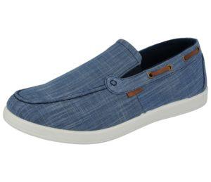Dr Keller Men's Breathable Canvas Slip On Loafers - Blue