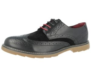 Groundwork Men's Faux Leather Lace Up Brogues - Black