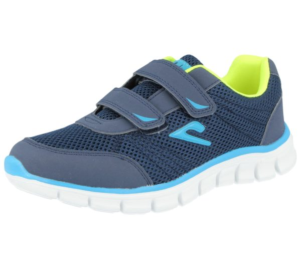 Galop Kids & Adult's Breathable Canvas Touch & Close Trainers - Blue