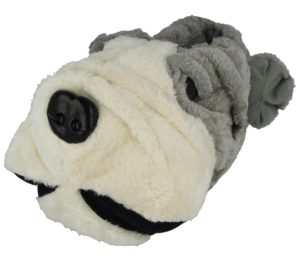 Yinka Shoes Men's Plush Bulldog Novelty Slippers