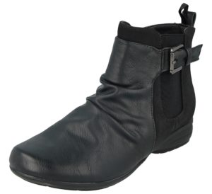 antonio womens ankle boot black ruched