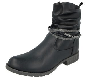 antonio womens leather biker boot
