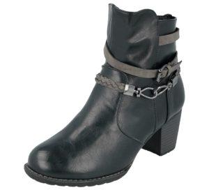 antonio womens faux leather strap biker boot black