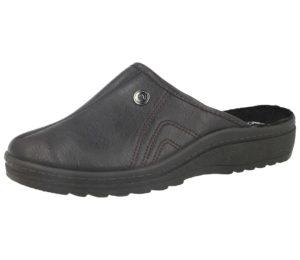 cadan leather mens slipper dark brown