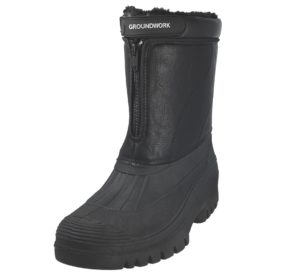 groundwork mens faux leather winter boot