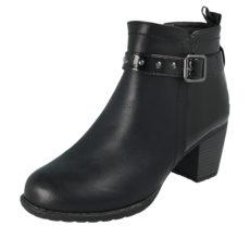 Antonio Dolfi Women's Black Faux Leather Ankle Boots