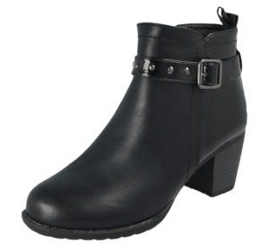 Antonio Dolfi Women's Black Faux Leather Ankle Boots