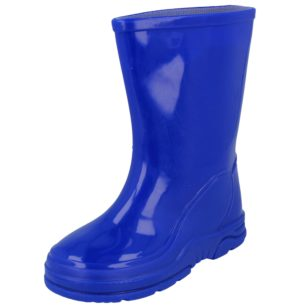 Yinka Shoes Unisex Waterproof PU Wellington Boots - Blue