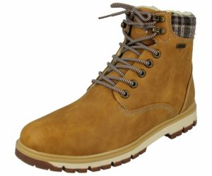 Stone V Men's Cognac Faux Leather Combat Boots