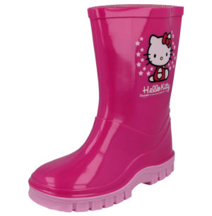 Hello Kitty Girls Pink Wellington Boots - Pink