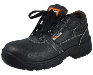 HyMAC Women's Soft Leather Steel Toe Cap Trainers