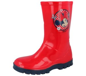 Disney Minnie Mouse Girls Red Wellington Boots