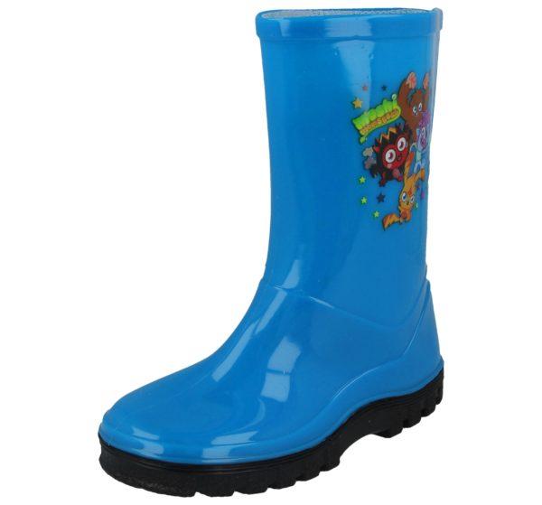 Moshi Monsters Unisex Waterproof PU Wellington Boots - Blue