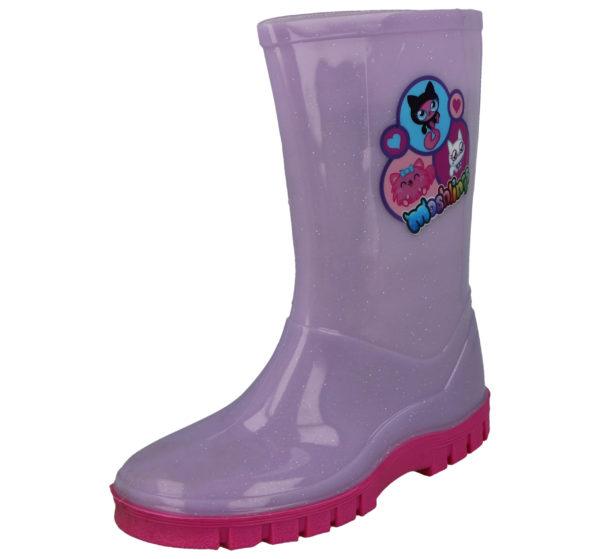 Moshi Monsters Unisex Waterproof PU Wellington Boots - Lilac