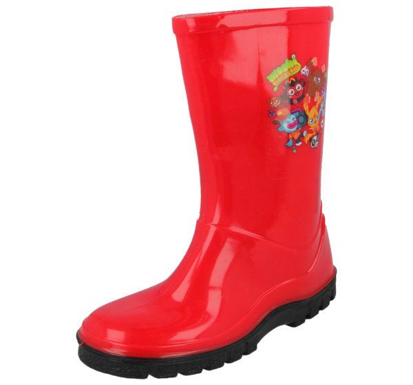 Moshi Monsters Unisex Waterproof PU Wellington Boots - Red