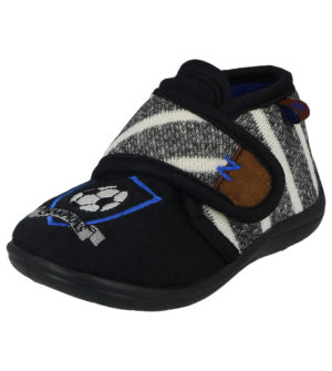 Lucky Joe Boys Breathable Canvas Football Slipper Boots - Black/Navy