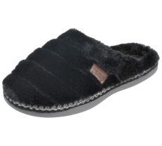 Cara Mia Women's Faux Fur Mule Slippers - Black