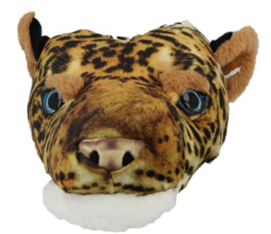 Plush Fun Unisex Leopard Novelty Slippers