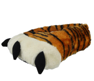 Plush Fun Unisex Orange Tiger Feet Novelty Slippers