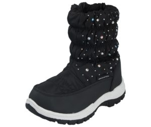 Antarctica Girls Waterproof Diamante Winter Boots - Black