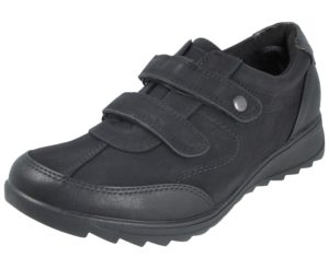 Antonio Dolfi Women's Black Faux Leather Touch & Close Trainers
