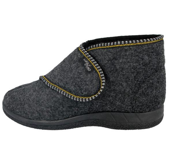 Cara Mia Women's Touch & Close Faux Sheepskin Slipper Boots