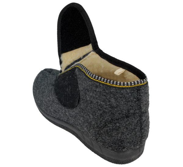 Cara Mia Women's Touch & Close Faux Sheepskin Slipper Boots - Touch & Close Fastening Open
