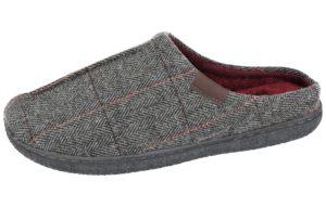 Giles Tweed Slipper Grey