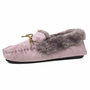 Vanessa Pink Moccasin Slippers