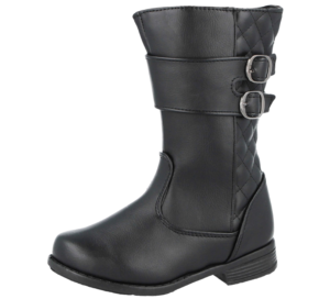 Chatterbox Girls Infant Black Faux Leather Riding Boots