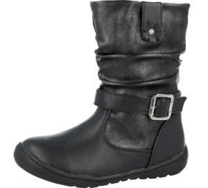 Girls Chatterbox Julie Black Boots