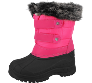 Girls Bright Pink Snowflake Snow Boots