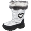 Girls Miss riot Silver Heart Snow Boots