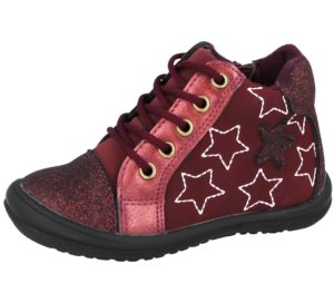 Girls Jessie Chatterbox Red Star Trainers