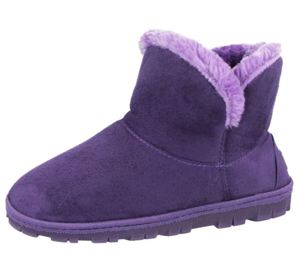 Ladies Yinka Shoes Fluffy Slipper Boots