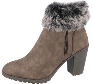 ladies brown heel ankle boots