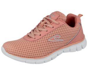 Girls pink mesh trainers